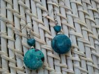 ~Turquoise RoundAbout Earrings~....Freee Ship