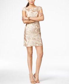 Adrianna Papell Sequin-Detail Sheath Dress  DRICATURCA DELUXE BRANDS