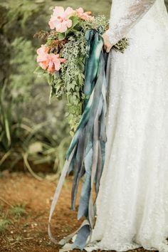 Ribboned bridal bouquet | #bouquet