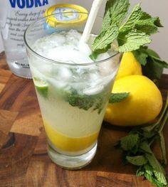 Lemon Lime Vodka Cooler // A Cedar Spoon