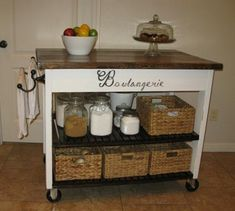 easy Kitchen Island | Do It Yourself Home Projects from Ana White COFFEE BAR!!