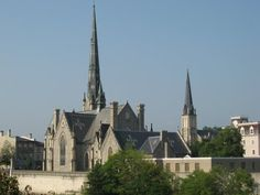 Old Churches in the Galt section of Cambridge, Ontario.