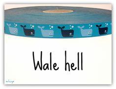 "NEU!!! *** Webband ""Wale hell"" *** NEU!!! von schuys auf DaWanda.com"