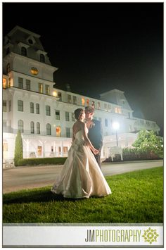 Wedding Photography at Night | Wentworth by the Sea | Bride & Groom | NH |