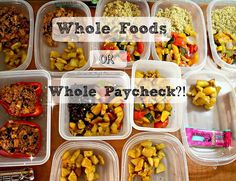 Do you meal prep for the week?? I only ever shop at Whole Foods and I always get asked how I do that on a budget. Whole Foods doesn't have to equal Whole Paycheck!!   CLICK the pin to see a quick video with my top 3 tips on how to shop at Whole Foods on a budget :) #EatCleanonaBudget #wholefoods #vegan #plantbased