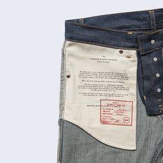Japanese KS2 Newhall (Slim) Selvedge Jeans Denim Jeans Men, Boys Jeans, Japanese Denim, Denim Branding, Zara Man, Clothing Labels, Pocket Detail, Label Design, Fashion Pictures