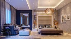 Glamorous-LOVE-bedroom-brown-white-and-beige-amber-tones-midnight-blue-side-wall.jpg (1400×788)