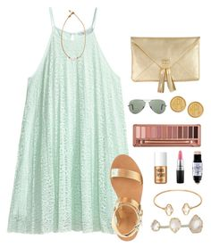 """""""if I started a taglist, who would join?"""" by morganmestan ❤ liked on Polyvore featuring H&M, Kendra Scott, Adele Marie, Benefit, Urban Decay, MAC Cosmetics, J.Crew, Moon and Lola, Ray-Ban and Lead"""