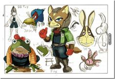 Shigeru Miyamoto has confirmed that Star Fox Wii U will be out Fall Concept Art from Star Fox 64 for Nintendo Fox Character, Character Concept, Star Fox 64, Shigeru Miyamoto, Fox Pictures, Game Concept Art, Creature Design, Tag Art, Japanese Art