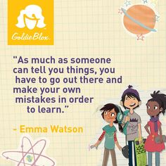 """""""As much as someone can tell you things, you have to go out there and make your own mistakes in order to learn."""" - Emma Watson #quote #inspiration #learn"""