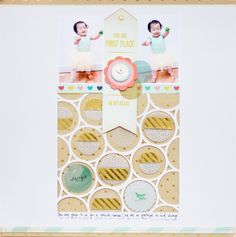#papercraft #scrapbook #layout.   YouAreFirstPlace_Layout5