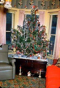 a kodachrome christmas | Vintage Christmas tree.... | vintage christmas | Pinterest
