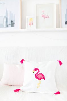 DIY Flamingo Kissen nähen