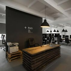 yasminamakram: office made out of recycled timber. How i wish everything we use would be recycled!