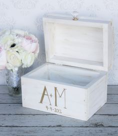Wedding Card Box Vintage Shabby Chic