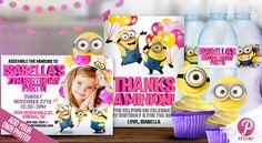 Minion Party Girl Combo Pack Custom Birthday by prettypixelstudio