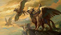 Griffon Mythologie | Animaux fantastique: Griffon