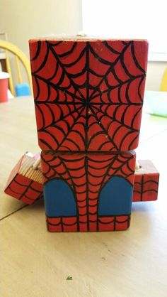 Spiderman - wood toy, natural wood, wood robot, DIY toy #woodtoy