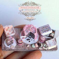 2017, Miniature Set: Love Choco Pink♡ ♡ By Valentina Manzo