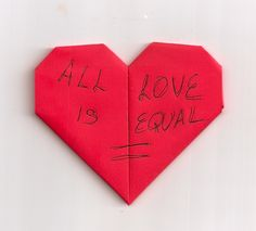 #GayMarriage Heart # 147 The Equal Hearts Project - an artistic work supporting marriage equality.