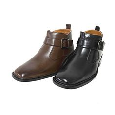 Men's Faux Leather Ankle Boots Casual Dress Shoe Zipper Buckle Faux Fur Lining (M77270) ** Want additional info? Click on the image.