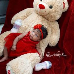 Gorgeous baby girl in red