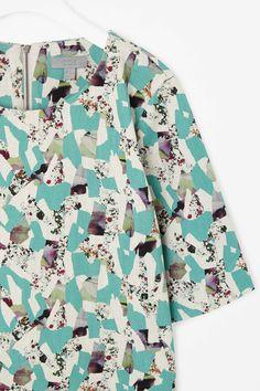 Printed denim dress Cos.