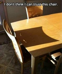 I have a weird sense of humor lol I laughed way too hard at this evil chair! @Tiffany Nelson