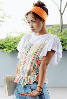 Lacy Floral Drawstring Camisole from en.aura-j.kr // $44.92