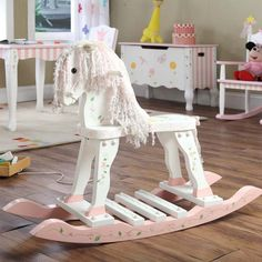 Rosenberry Rooms has everything imaginable for your child's room! Share the news and get $20 Off  your purchase! (*Minimum purchase required.) Princess Garden Rocking Horse