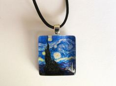 Starry Night glass pendant.  One of my all time favorite pieces of art!