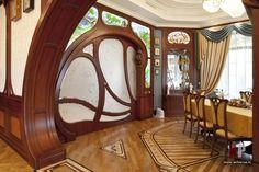 Фото интерьера столовой дома в стиле модерн