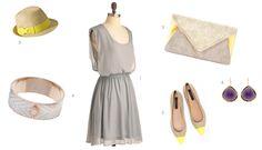 yellow gray dress - Soft Summer