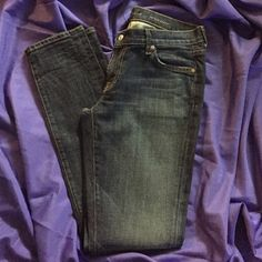 """NWOT... 7 for all mankind skinny jeans """"Roxanne"""" Never worn, perfect condition. Roxanne style. Skinny dark blue. Perfect! Size W30 I32 7 for all Mankind Jeans Skinny"""