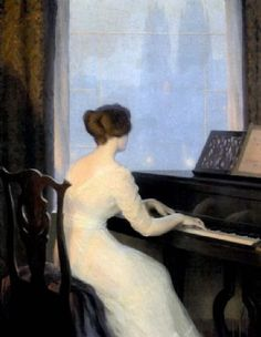 View Girl playing piano by William Worcester Churchill on artnet. Browse upcoming and past auction lots by William Worcester Churchill. Arte Do Piano, Piano Y Violin, Churchill, Neo Rauch, Jouer Du Piano, Piano Photography, Piano Girl, Claude Debussy, Piano Lessons For Beginners