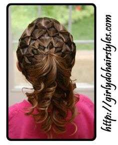 Girly Do's By Jenn: Got Time?    This will be the gold medal of hairstyles if I can get my daughter to sit still long enough. Step by step instructions on site. :)