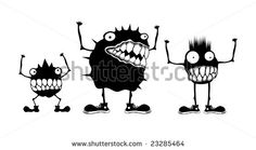 Vector Cartoon Bacteria Germs Stock Vectors & Vector Clip Art | Shutterstock