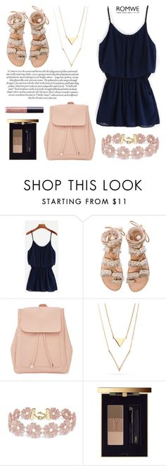 """GREECE"" by valentina-agnese ❤ liked on Polyvore featuring Elina Linardaki, New Look, BaubleBar, Yves Saint Laurent, tarte, romwe and playsuit"