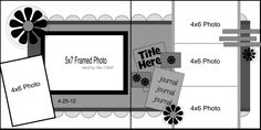 scrapbook sketches double page   Scrapbook Pages - Double Page sketches