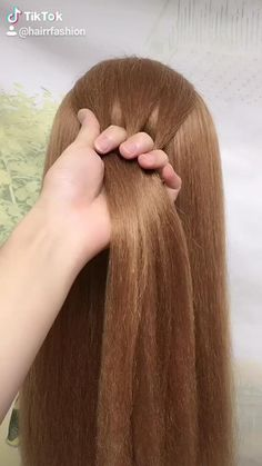 Hairdo For Long Hair, Easy Hairstyles For Long Hair, Cute Hairstyles, Braids For Girls Hair, Hairstyles For Girls Easy, Easy And Beautiful Hairstyles, Quick Braided Hairstyles, Fancy Braids, Daily Hairstyles