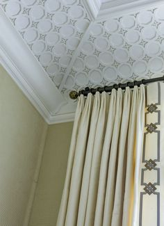 Greek Key Trim On Solid Curtains It S All In The Details