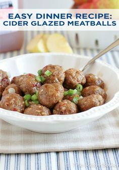 one sweet mess apple cider glazed meatballs # sundaysupper these sweet ...