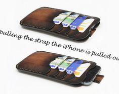 iPhone 7/7 Plus étui en cuir. Soigneusement à la main par Odorizzi