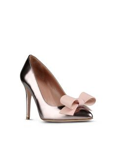 Rose gold stiletto pumps with a huge PVC pink bow by Valentino. The perfect heels for spring; excuse me while I die.