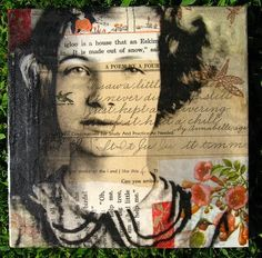 Mixed media collage artist