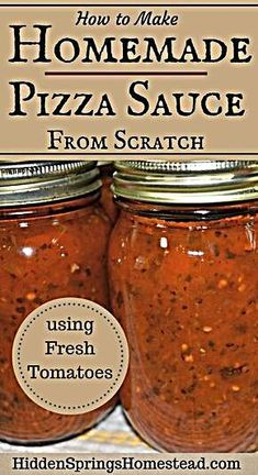 How to make homemade from scratch pizza sauce using fresh tomatoes. It's the best authentic home canned pizza sauce using all fresh ingredients. Garlic, Olive Oil, Spices just pure sweetness. This easy recipe will have you making your own homemade pizza Cooking Tips, Cooking Recipes, Pizza Recipes, Easy Recipes, Cooking Games, Cooking Classes, Healthy Recipes, Hamburger Recipes, Skillet Recipes