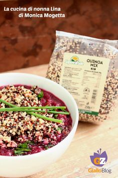 QUINOA MIX CON BARBABIETOLA #quinoa #quinoamix #barbabietola #light #vegan #bio #alimentibio #gialloblog #lacucinadinonnalina #sponsoredpost