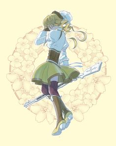 "--MAMI TOMOE-- ""I just pretend to be cool. When I'm scared or hurt, there's no one I can talk to. All I can do is cry on my own. It's not fun... being a magical girl."""