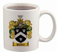$15.99 Buckley Coat of Arms Mug / Family Crest 11 ounce cup