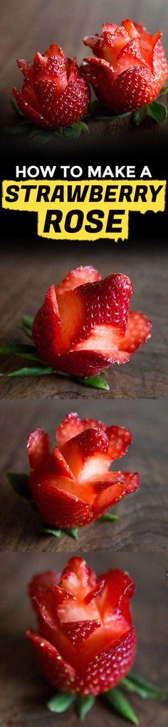 How to Make Strawberry Roses   Extra Crispy